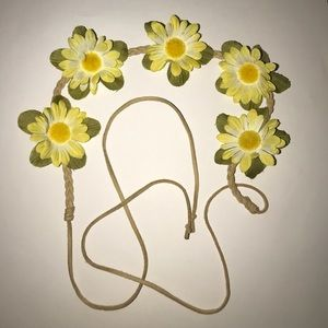 Accessories - Yellow and White Floral Headband